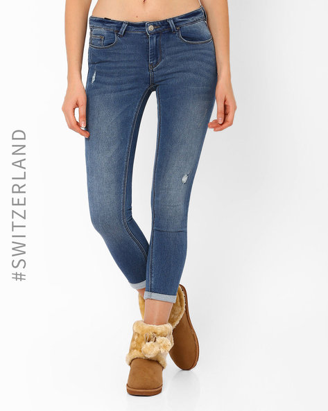 Low-Rise Skinny Jeans By TALLY WEiJL ( Navyblue )