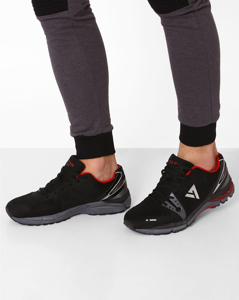 Lace-Up Sports Shoes By SEVEN ( Black )