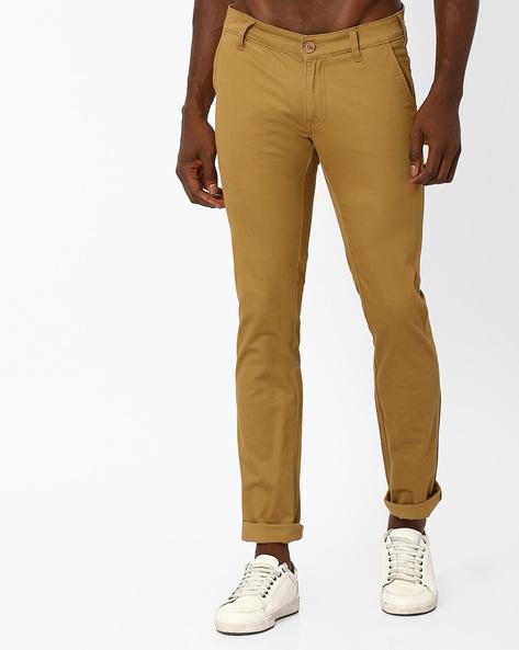Slim Fit Cotton Trousers By WRANGLER ( Khaki )