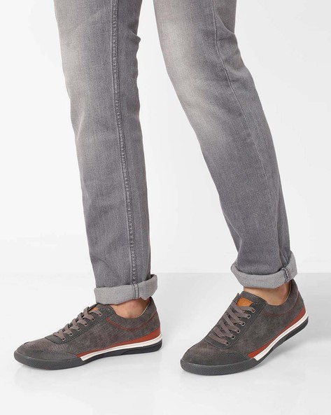 Sneaker With Perforations By Spunk ( Grey )