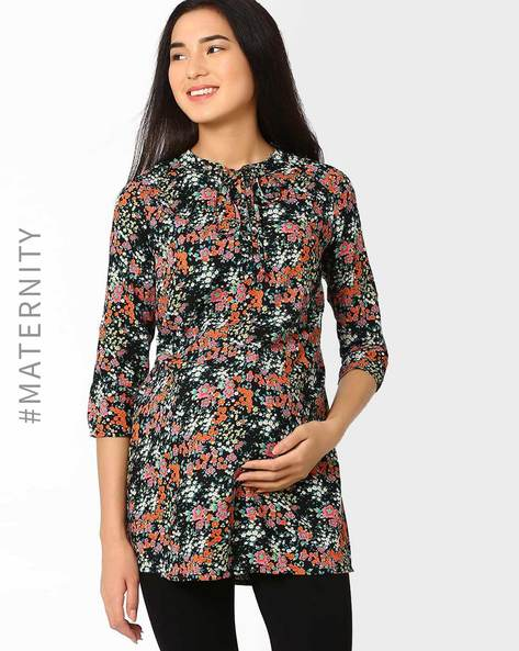 Floral Print Maternity Tunic By Oxolloxo ( Multi )