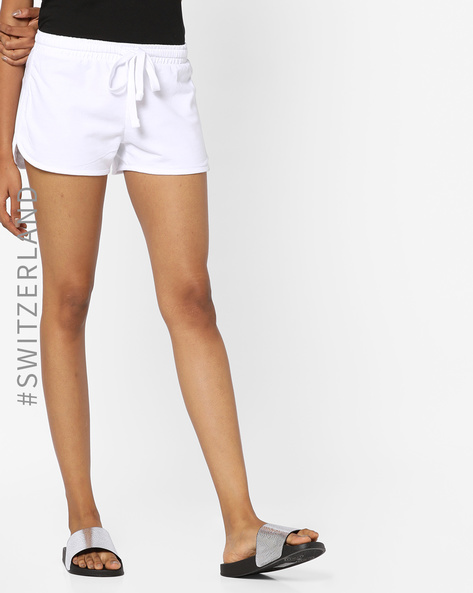Cotton Shorts With Drawstring Waist By TALLY WEiJL ( White )