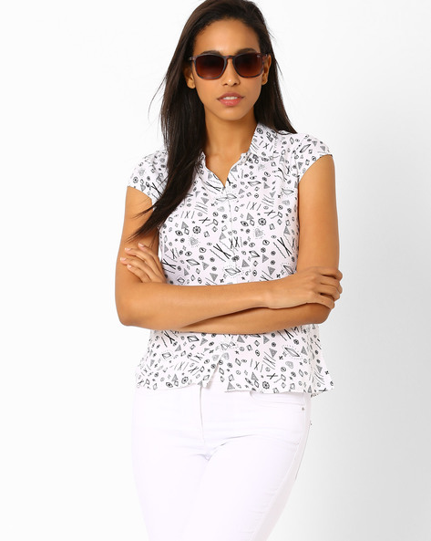 Printed Shirt By Candies By Pantaloons ( White )