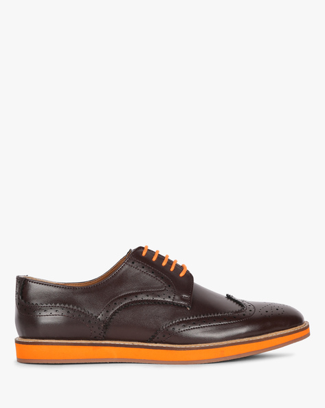 Lace-Up Formal Shoes By Piaffe ( Brown ) - 460158181006