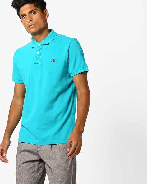 Polo T-shirt With Ribbed Hems By Aeropostale ( Aqua )