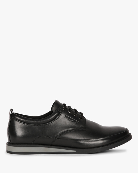 Panelled Lace-Up Casual Shoes By RED CHIEF ( Black )