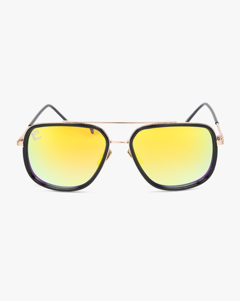 Mirrored Clubmaster Sunglasses By CLARK N PALMER ( Black )