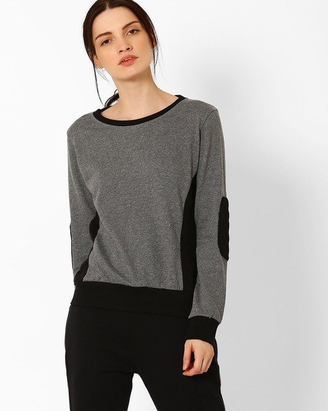 Sweatshirt With Quilted Panels By TEAM SPIRIT ( Charcoal )
