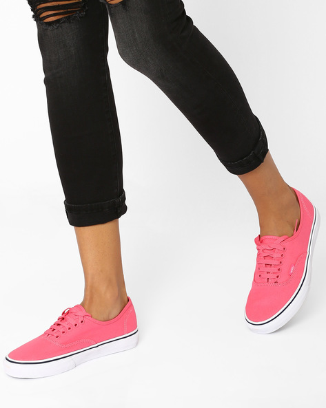 Authentic Camellia Casual Shoes By Vans ( Coral )
