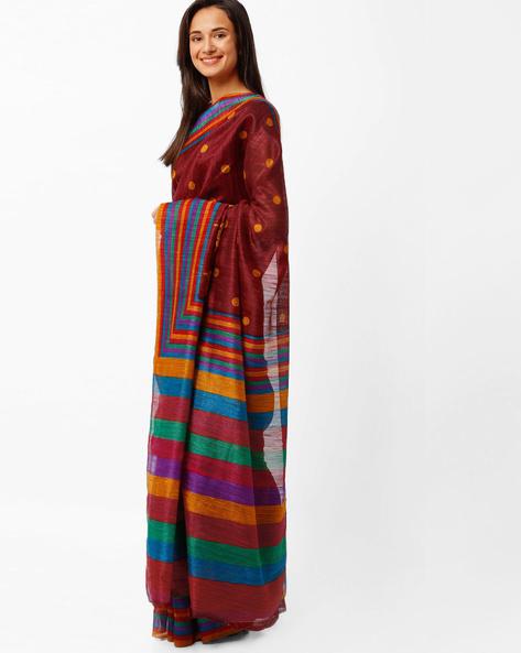 Printed Art Silk Saree By Diva Fashion ( Navyblue )