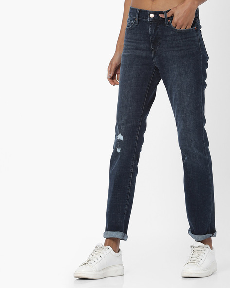 312 Slim Fit Distressed Jeans By LEVIS ( Blue )
