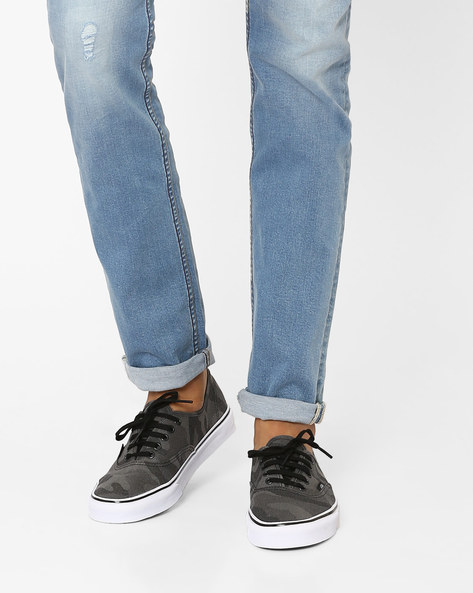 Camouflage Authentic Canvas Sneakers By Vans ( Black )