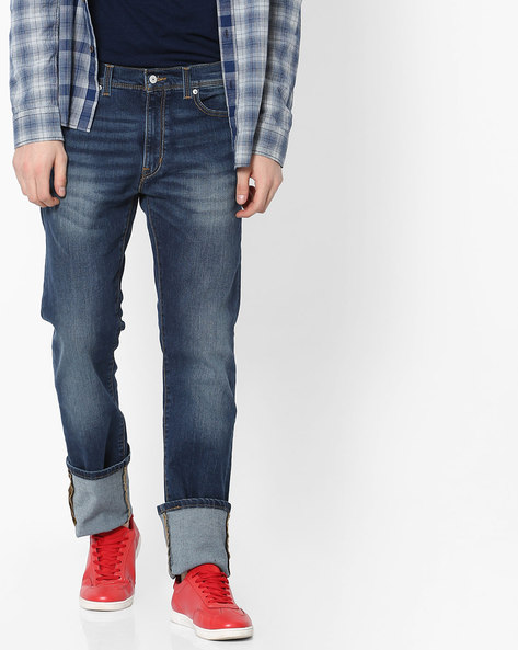 513 Lightly Washed Slim Fit Jeans By LEVIS ( Blue )