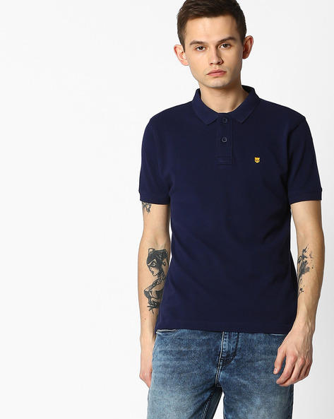 Slim Fit Polo T-shirt By WRANGLER ( Navy )