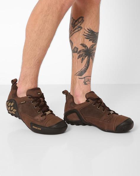 Lace-Up Casual Shoes By WOODLAND ( Brnnub )