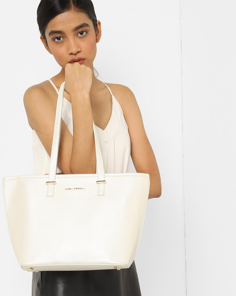 Textured Tote Bag By Lino Perros ( Offwhite )