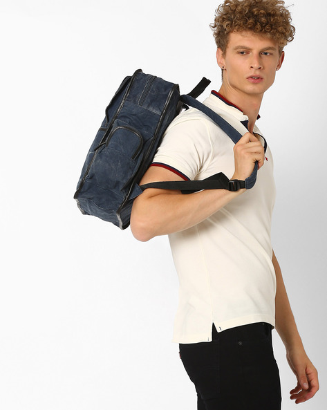Canvas Backpack By AJIO ( Blue )