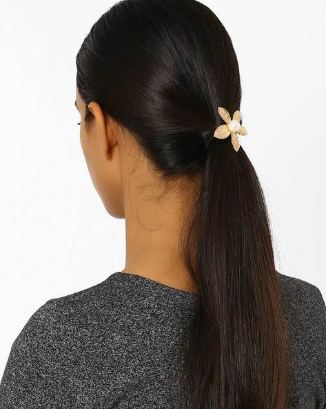 Floral Metal Hairband By Ayesha ( Gold ) - 460042693001