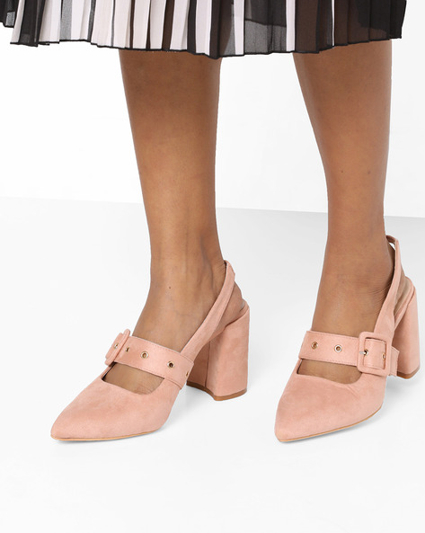 Heeled Shoes With Block Heels By Glamorous ( Pink )
