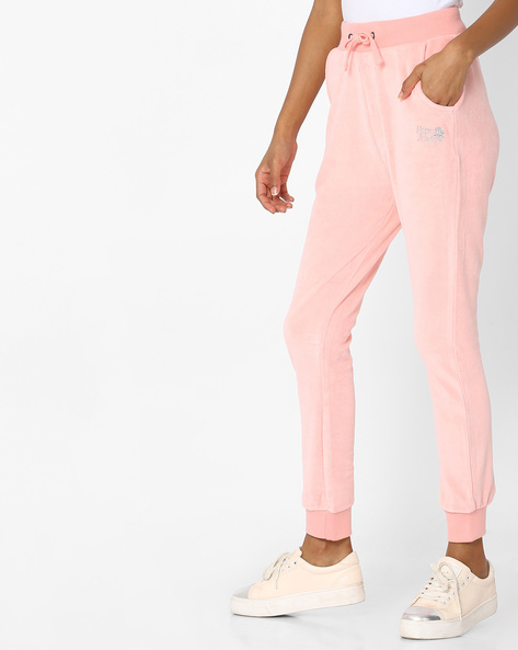 Cotton Joggers With Drawstring Waistband By Pepe Jeans ( Pink )