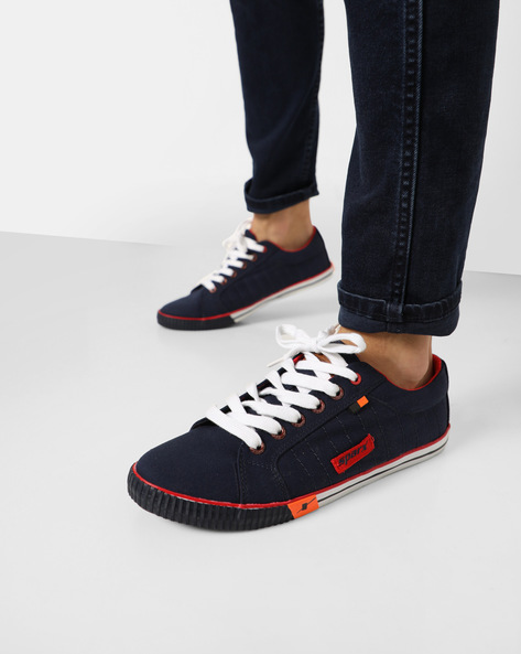 Low-Top Casual Lace-Up Shoes By SPARX ( Navyblue )