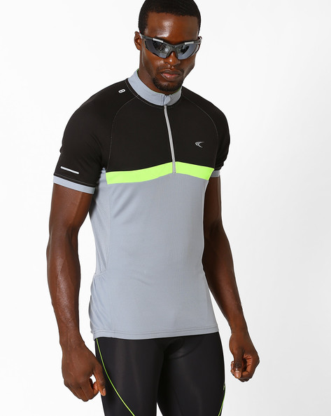 Reflective T-shirt With Quick Dry By PERFORMAX ( Medgrey )
