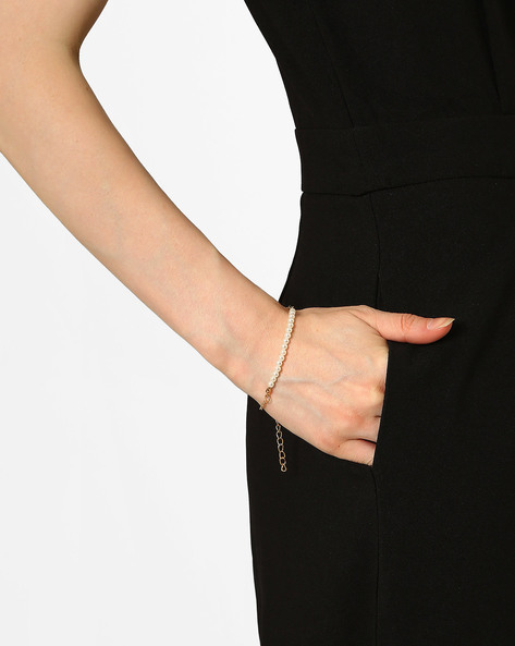 Beaded Bracelet By Joker & Witch ( Gold )