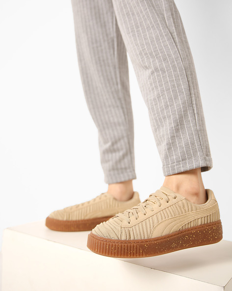 Casual Sheos With Lace-Ups By Puma ( White )
