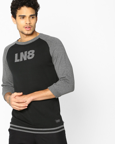 Crew-Neck T-Shirt With Raglan Sleeves By LEVIS ( Black )