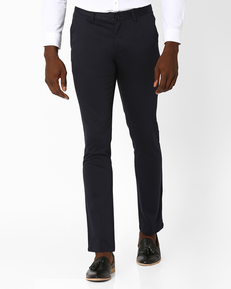 Slim Fit Formal Trousers By JOHN PLAYERS ( Black )