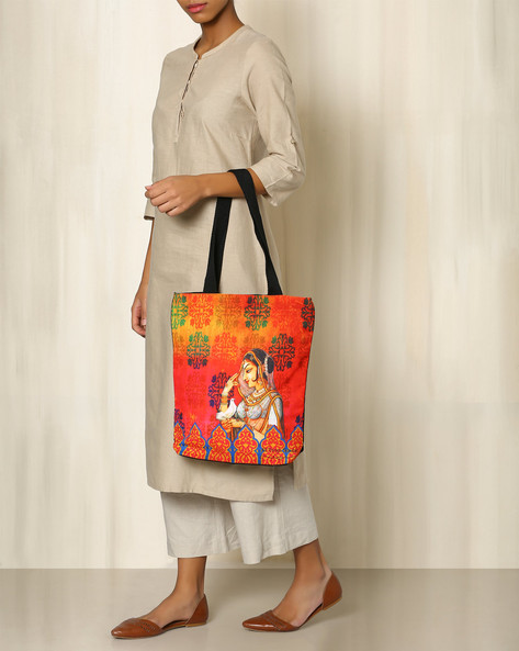 Digital Print Tote Bag By All Things Sundar ( Multi ) - 460040269001