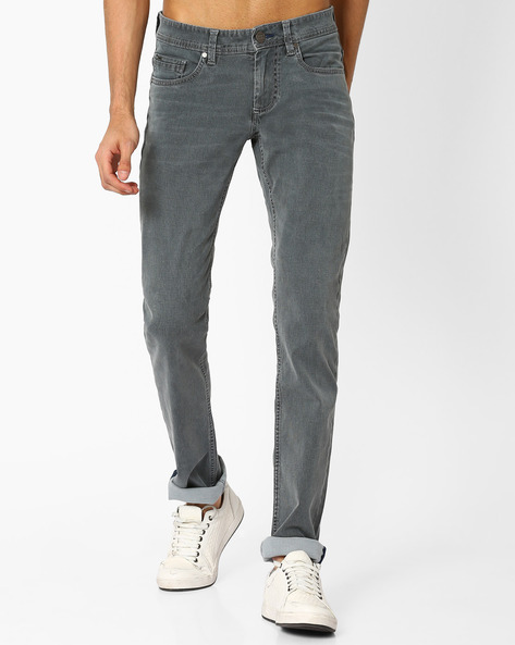 Torque Fit Stretch Jeans By BASICS ( Greymelange )