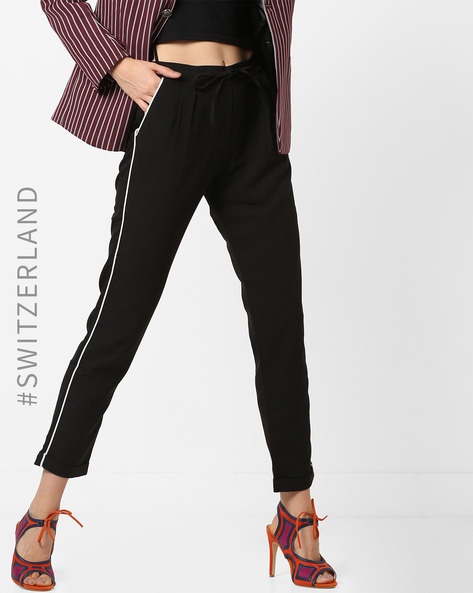 Mid-Rise Trousers With Slip Pockets By TALLY WEiJL ( Black )