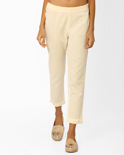 Cotton Trousers With Elasticated Waistband By AURELIA ( Brtmulti )