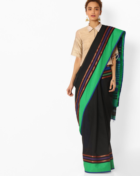 Handloom Woven Art Silk Saree By SHRIKALA ( Black )