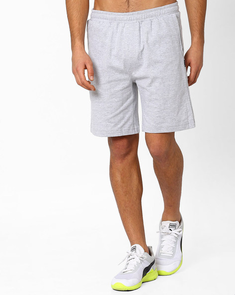 Sports Shorts With Elasticated Waistband By HANES ( Greymelange )