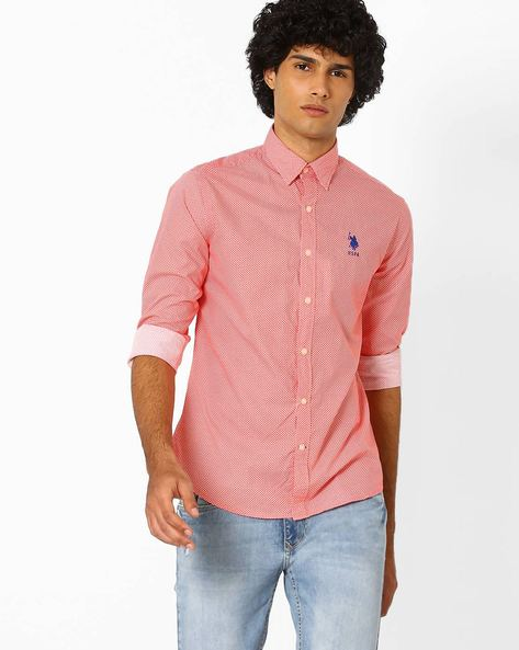 Printed Cotton Shirt By US POLO ( Assorted )