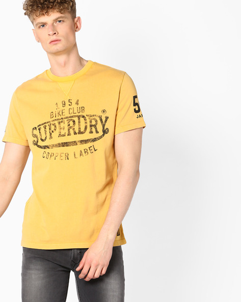 Printed Crew-Neck T-shirt By SUPERDRY ( Wlc )