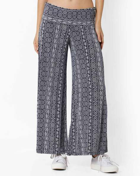 Printed Palazzo Pants By And ( Multi ) - 460035576003