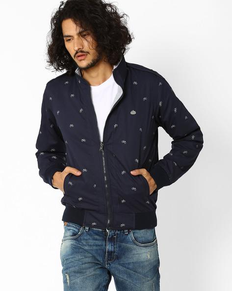 Regular Fit Reversible Jacket By NETPLAY ( Navy )