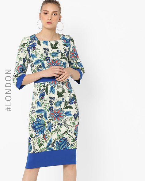 Floral Print Sheath Dress By Closet London ( Multi )