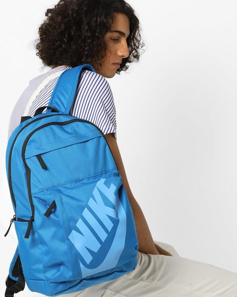 Everyday Backpack With Printed Branding By NIKE ( Blue )