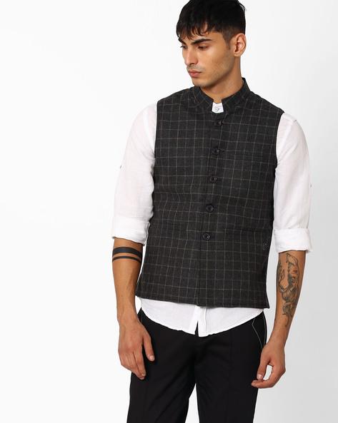 Regular Fit Nehru Jacket By DUKE ( Darkgrey )