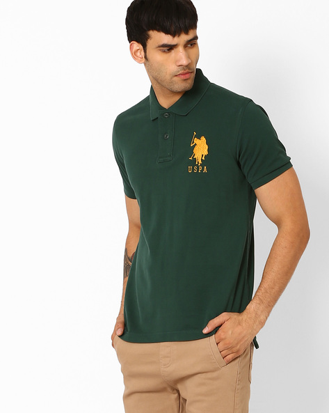 Slim Fit Polo T-shirt By US POLO ( Green )