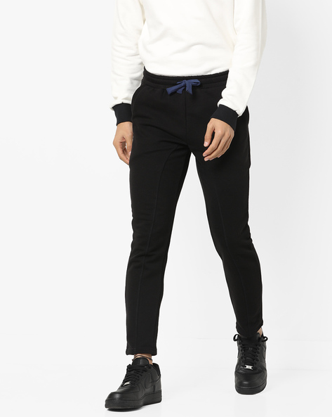 Pure Cotton Track Pant With Drawstring Waist By UNITED COLORS OF BENETTON ( Black )