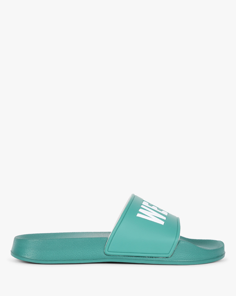 Slip-Ons With Typographic Upper By UNITED COLORS OF BENETTON ( Aqua )
