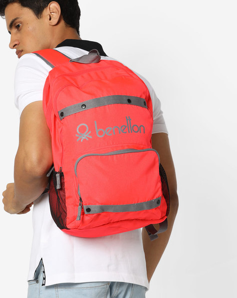 Laptop Backpack With Contrast Taping By UNITED COLORS OF BENETTON ( Red )