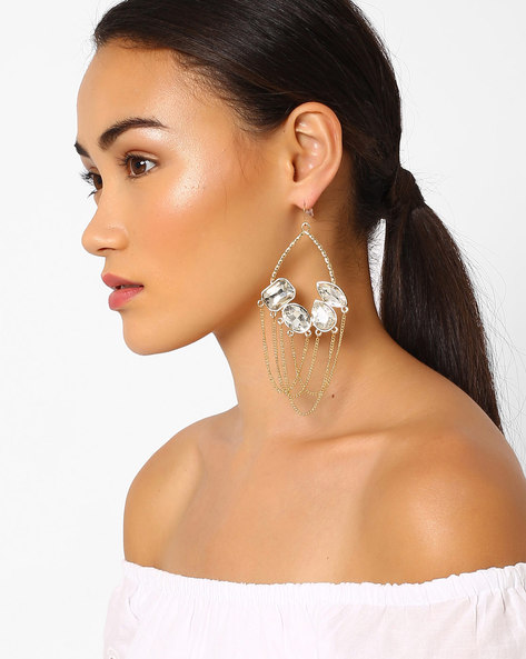 Drop-Earrings With Crystals By Pipa Bella ( Gold )