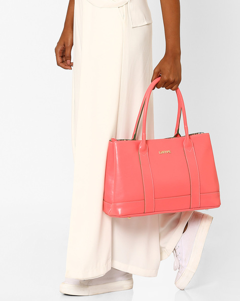Oversized Shoulder Bag By Daphne ( Pink )