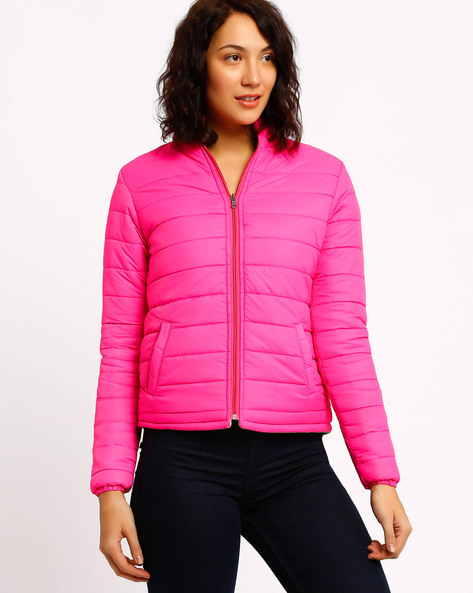 Reversible Quilted Jacket By Fort Collins ( Pink )